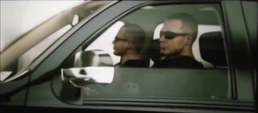 You can tell they're bad guys. I mean, just look at those shades and them grim faces. :D