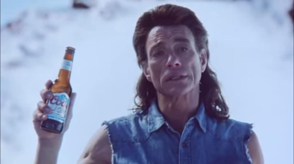Jean-Claude Van Damme dresses in 80's fashion while promoting Coors Light: Ice Bar in a brand new commercial