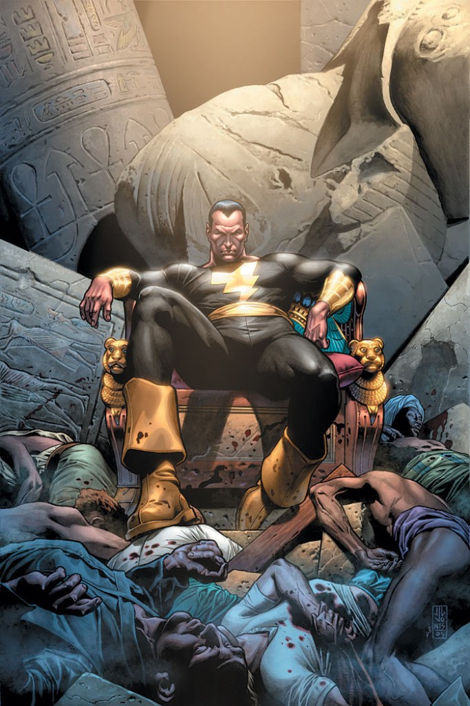 """Kneel at his feet or get crushed by his boot..."" That is Black Adam."