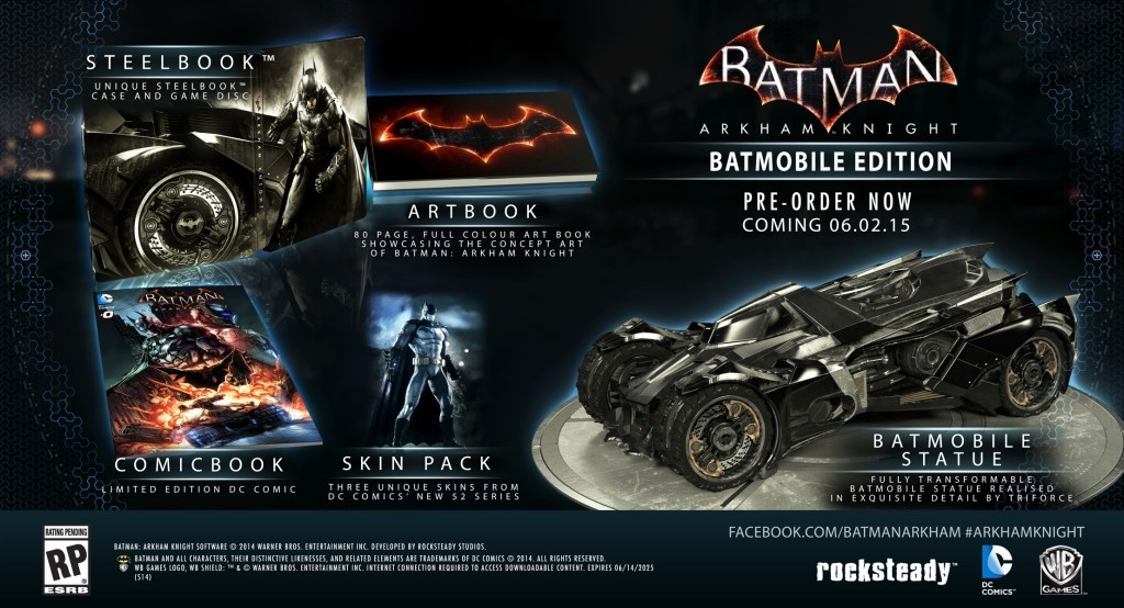 Batman: Arkham Knight Limited Edition Set.