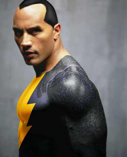 "A fanart interpretation of Dwayne ""The Rock"" Johnson as Black Adam... And it looks very convincing to boot."