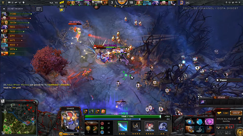 Look at that Tinker go! Crazy quick play by Dendi!