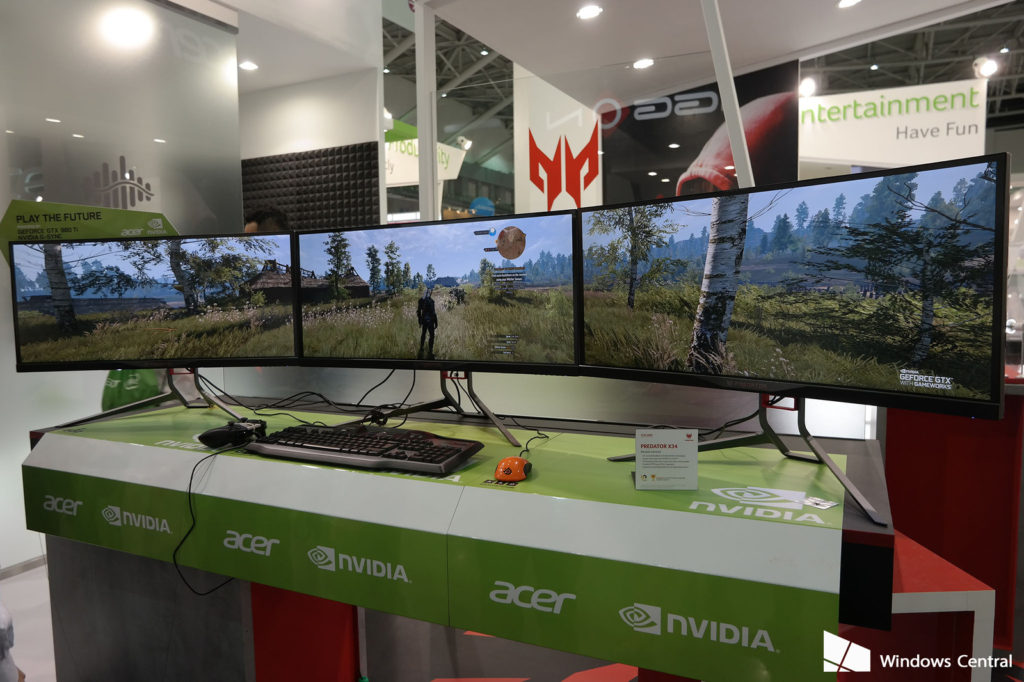Link the Acer X34 for an amazing gaming experience! Image taken from Windows Central: http://www.windowscentral.com/acer-brings-its-big-guns-new-predator-x34-ultrawide-curved-gaming-monitor