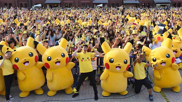 'Pikachu Outbreak' event in Yokohama