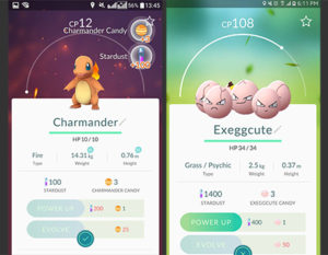 Charmander and Exeggcute