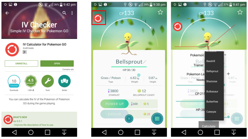 Click to download IV Calculator for Pokemon GO (Android)