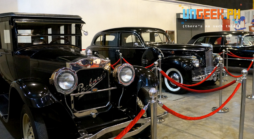 These are the actual Presidential cars used way back when.