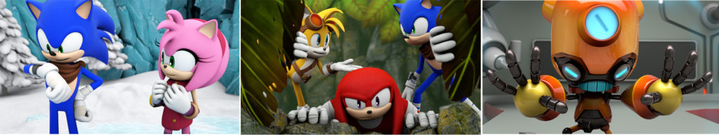 Scenes from Sonic Boom Fire and Ice
