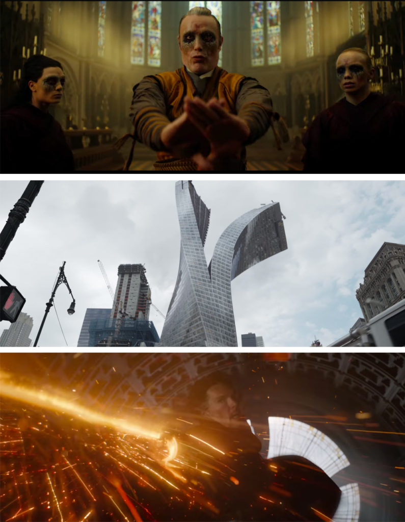 Scenes from the Doctor Strange Trailer