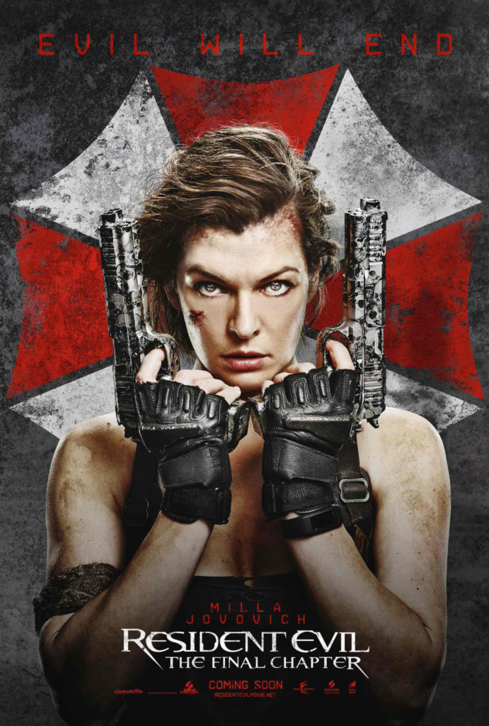 Resident Evil : The Final Chapter movie poster