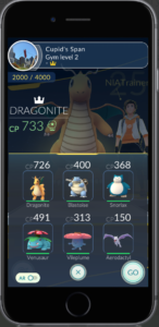 Bring 6 Pokémon for Gym Training (Source: Niantic Labs)