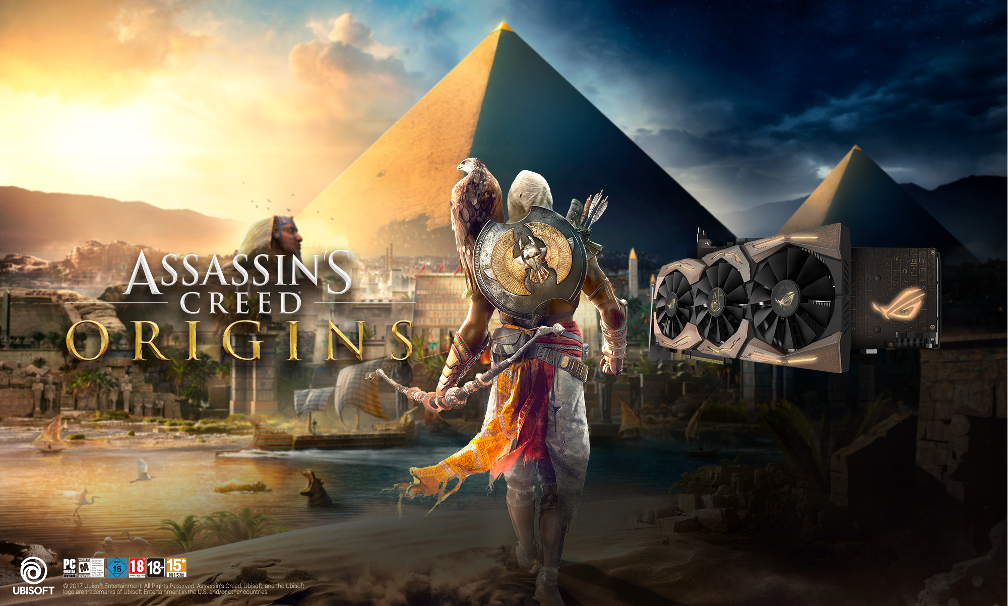 Hieroglyphs Assassins Creed Origins Hd Games 4k: The ASUS ROG Strix 1080Ti Assassin's Creed Origin Edition