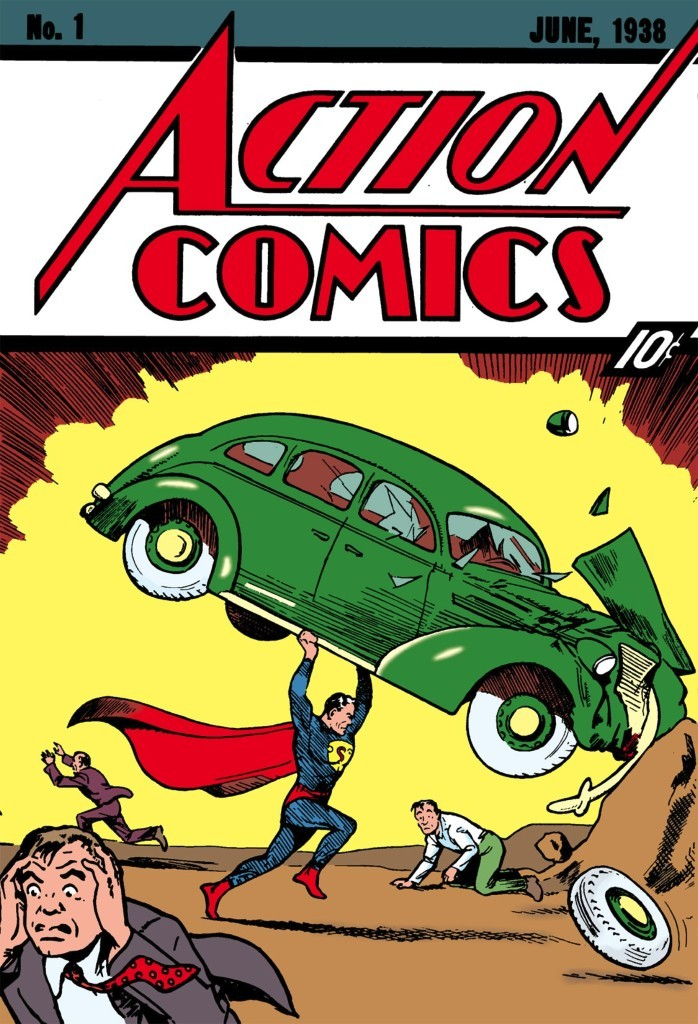 Cover to Action Comics #1, Vol. 1 - featuring the first appearance of Superman