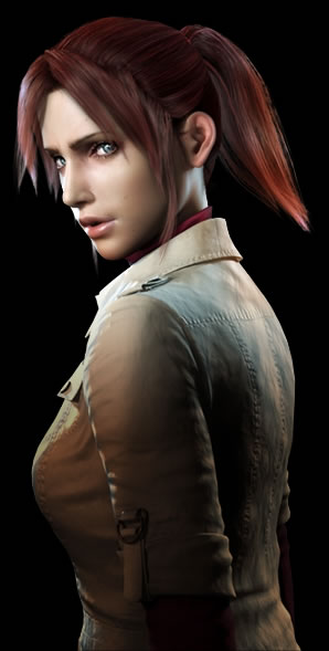 Claire Redfield (voiced by Alyson Court), as she appears in the CGI Animated Movie, Resident Evil: Degeneration