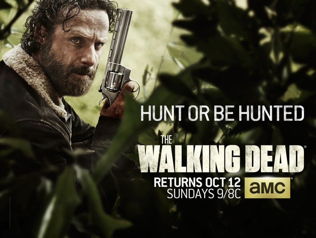 Rick Grimes (played by Andrew Lincoln) returns with his trusty Colt Python in hand in this new key art image released for Season 5.