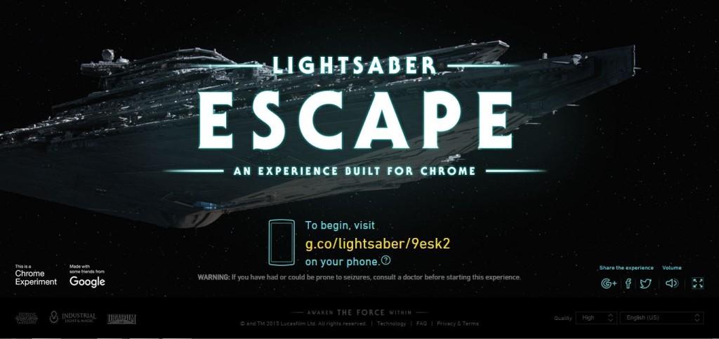 Lightsaber Escape Title