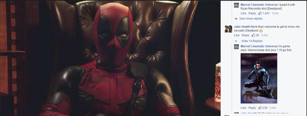 Deadpool's Dick Pic! O_O