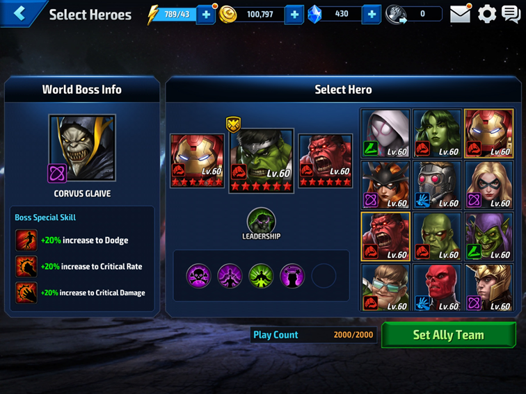 You'll need to choose your heroes carefully. Selecting 3 main heroes and 5 strikers (8 in total. WHAT THE WHAT?!)