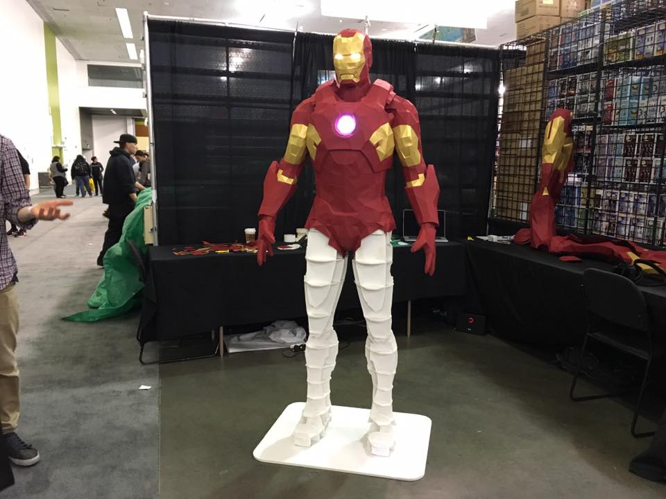 You got this Iron Man model suiting up