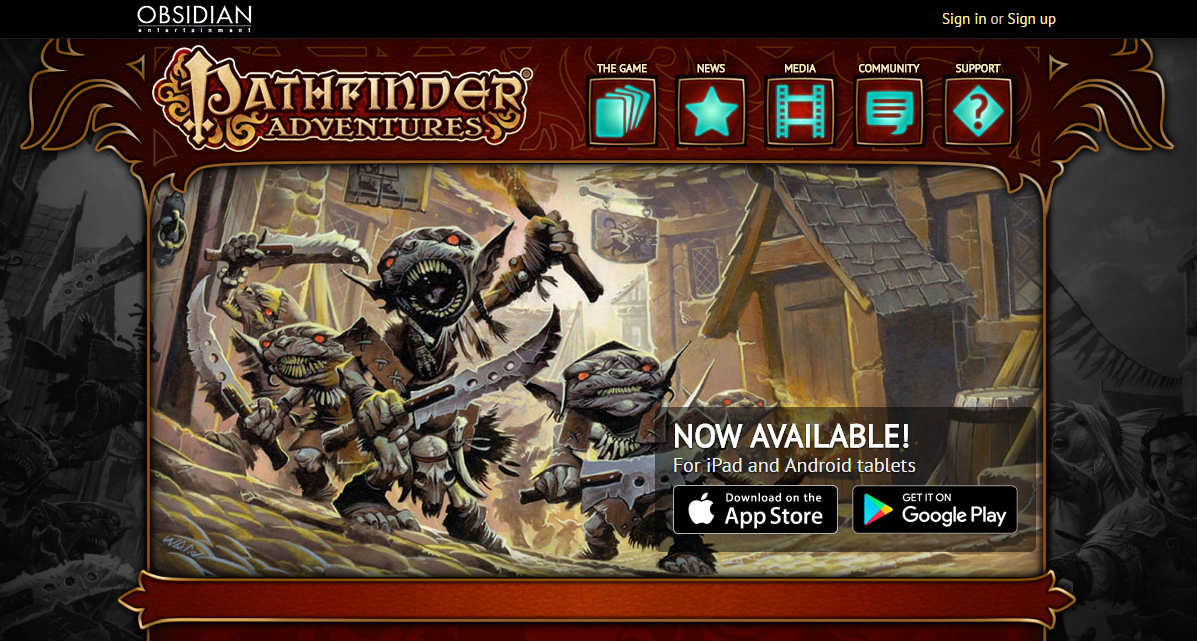 Pathfinder Adventures screen grab