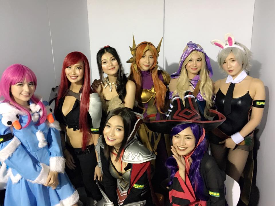 The A-Plus Babes Cosplay! (Image courtesy of the A-Plus All Weather Paint Facebook Fan page)