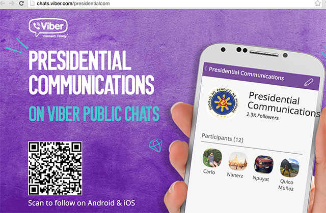 Viber Public Chat - Presidential Communication