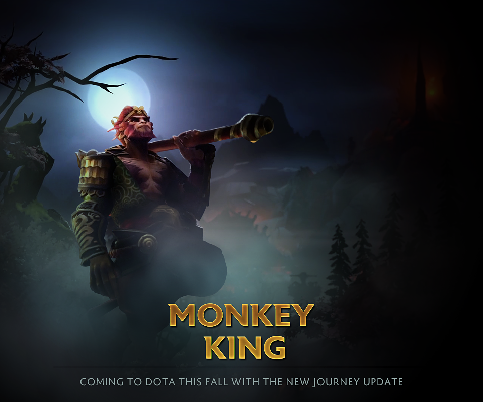 The New Journey update for Dota 2 will include a new hero, the Monkey King! (Image courtesy of gearnuke.com)