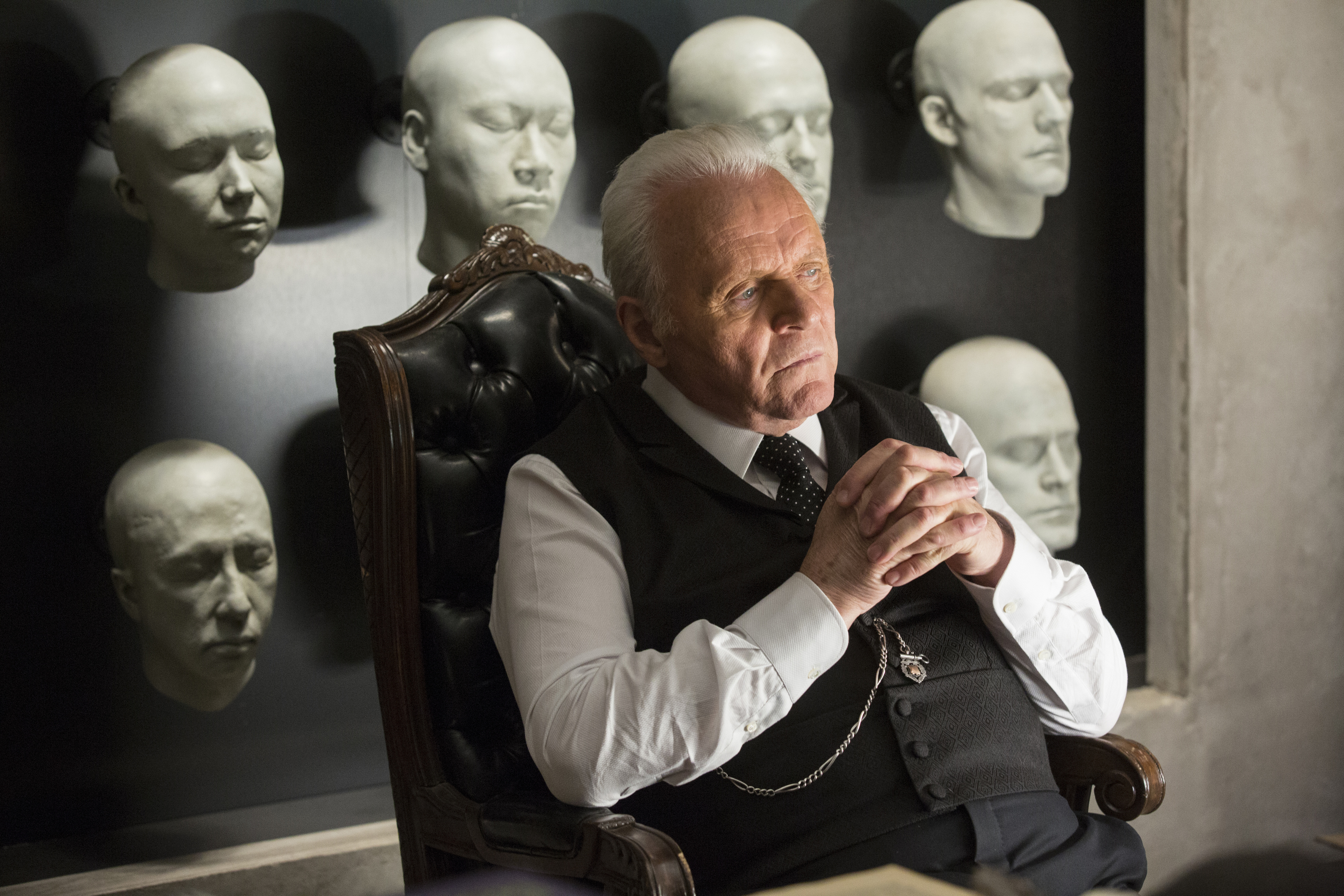 Anthony Hopkins plays the role of Dr. Robert Ford, the founder of Westworld.