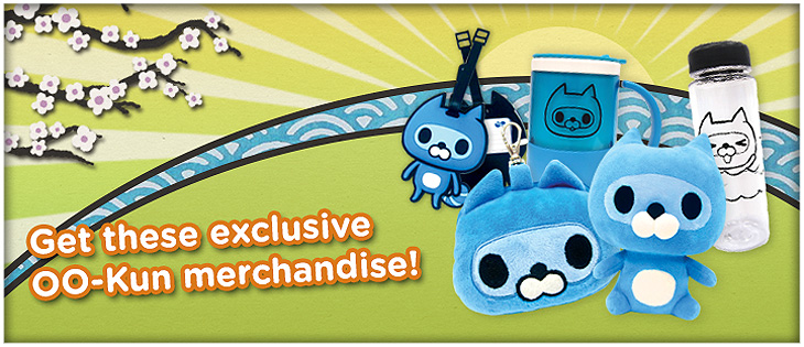 Aside from anime-centric shops and merchants you can also get these OO-kun exclusive merchandise during the con!