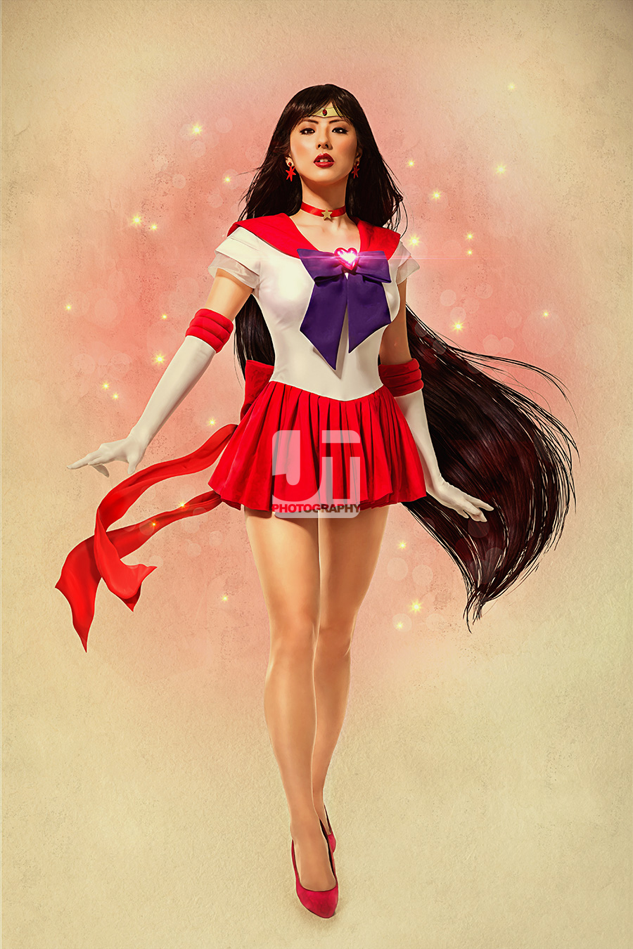 Mars may be the fourth planet from the sun but it burns twice as hot because of Jinri Park as Sailor Mars. (Image courtesy of http://shop.jaytablante.com)
