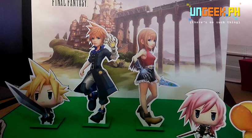 Or have their Photo Taken with the cute peeps from World of Final Fantasy