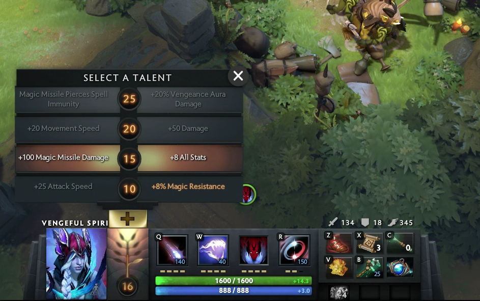 At level 10 / 15 / 20 / 25, your hero will get to choose talents that will allow specializations and certain item builds to be more effective than others.