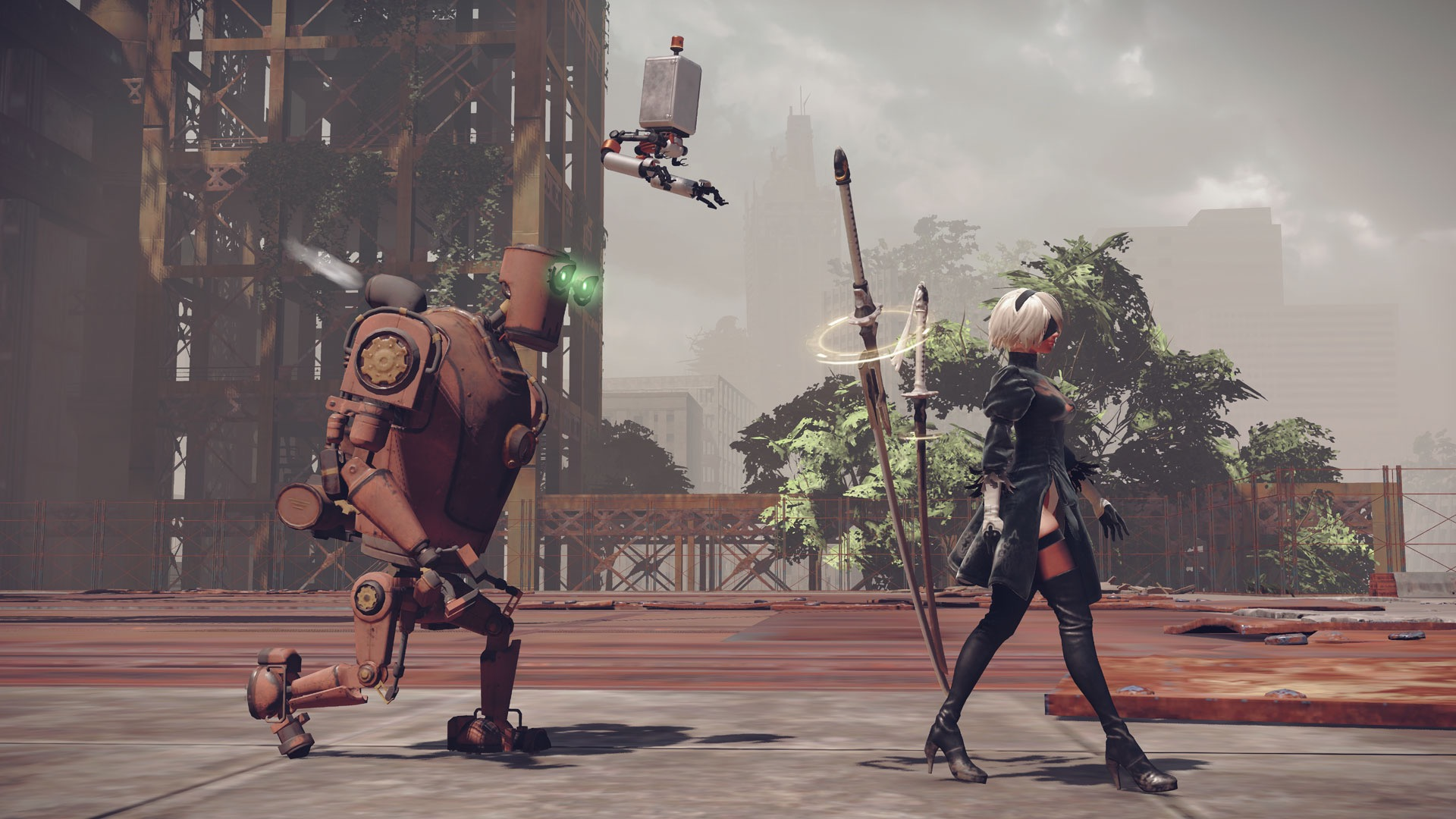 The Game Is Drawing Nier Watch 29 Minutes Of Nier Automata