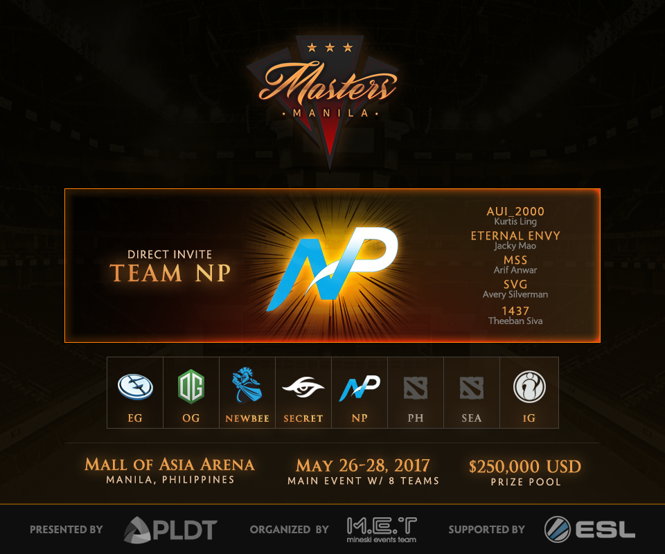 Everything we know so far about the Manila Masters!   Ungeek