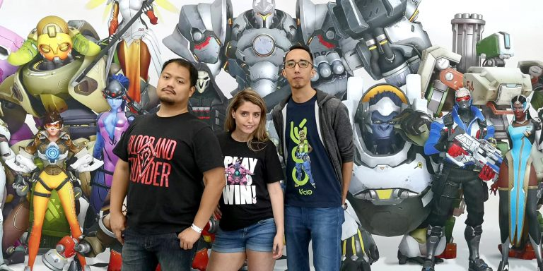 Guarding the Payload with our Uniqlo x Blizzard Shirts on! An E3 2018 Special!