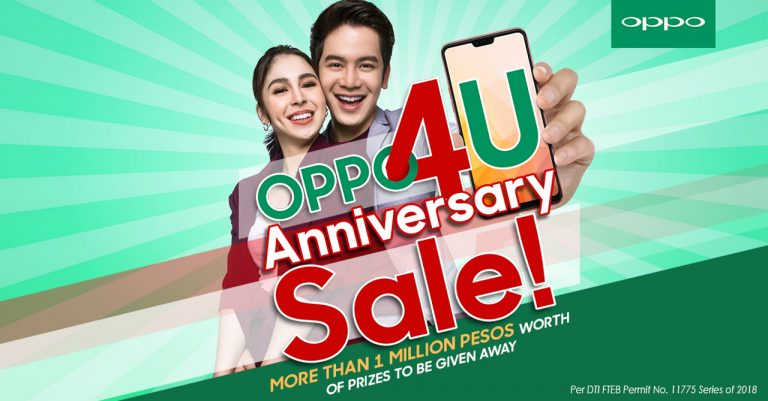 OPPO celebrates its 4th anniversary with the OPPO4U Sale