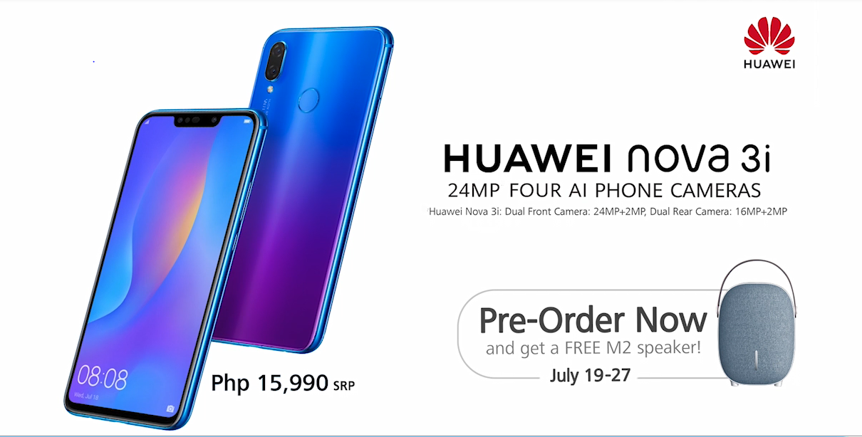 Four AI-cameras?! The Huawei Nova 3i is now official in the