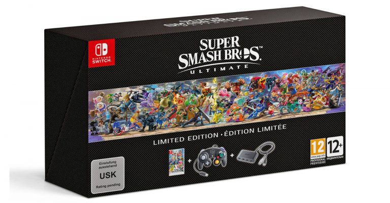 Super Smash Bros. Ultimate Limited Edition includes a GameCube controller!