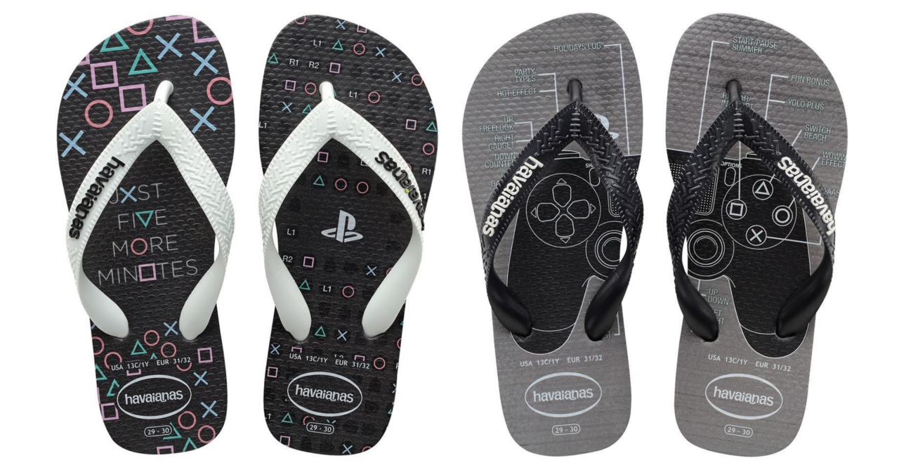 e54605dd0 Havaianas  PlayStation flip-flops are the perfect casual footwear for PS  fans