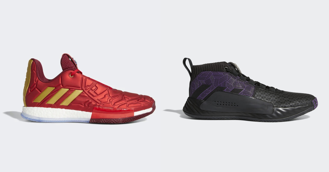 new concept 47311 8ece0 Adidas collabs with Marvel for Endgame-inspired basketball sneaker  collection