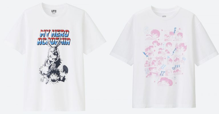 Uniqlo to release 'Manga UT' line with designs from My Hero Academia, Ranma 1/2, and more