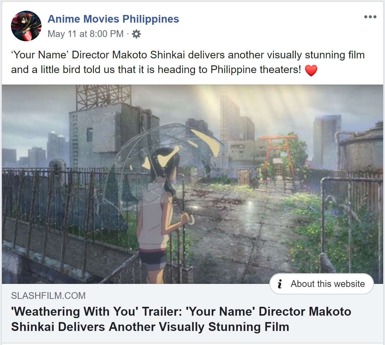 Looks Like Makoto Shinkai S Anime Film Weathering With You Is