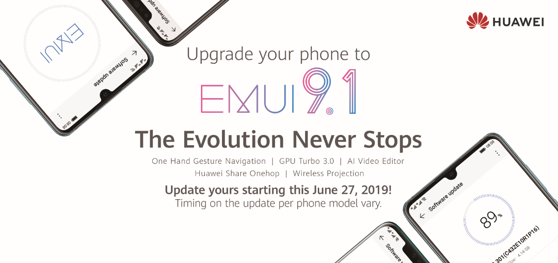 Huawei rolls out EMUI 9 1 Update in the Philippines to