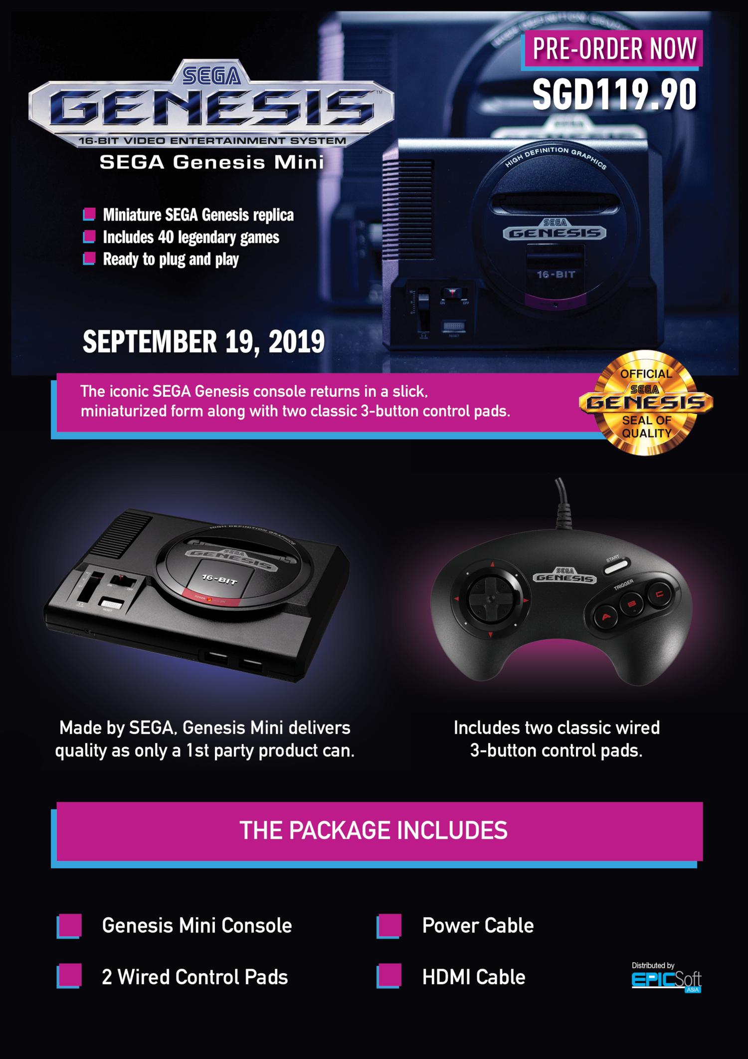 Sega genesis, The Sega Genesis returns with a new mini console