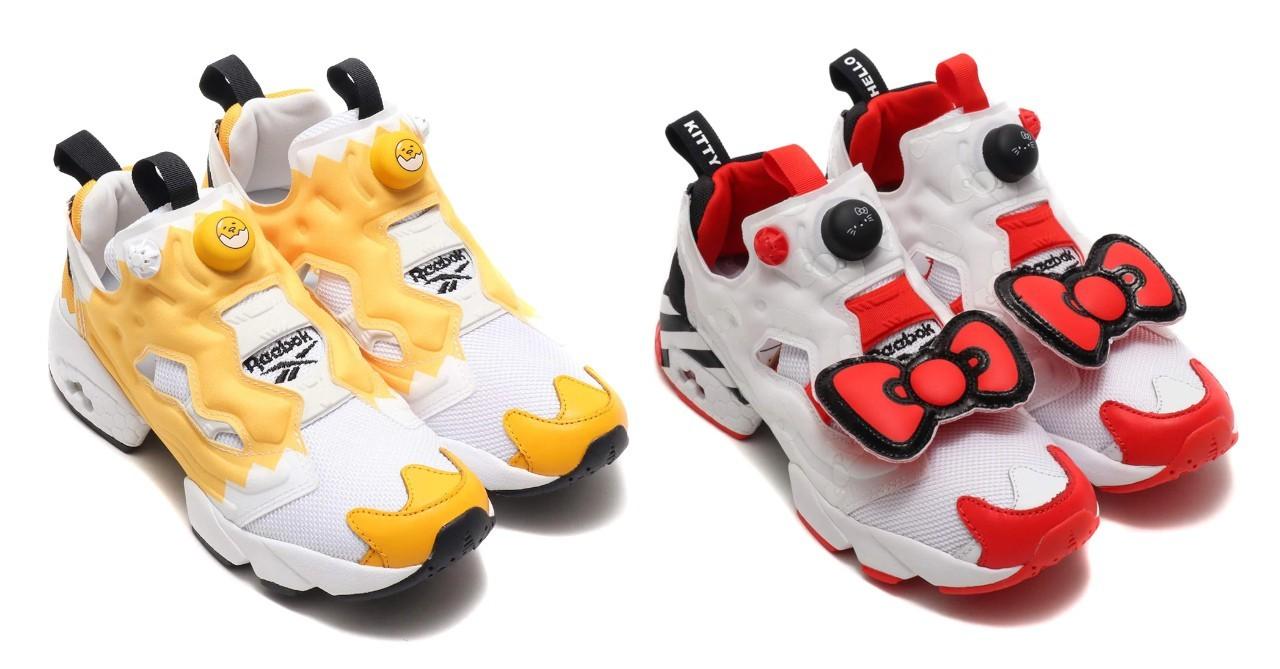 Precioso Que agradable Turbina  Reebok partners with Sanrio for 'Gudetama' and 'Hello Kitty' Instapump Fury  sneakers