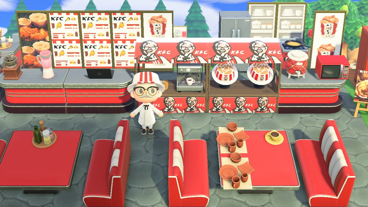 Kfc Opens Its Latest Branch In Animal Crossing New Horizons
